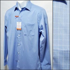 Van Heusen Blue Stretch Stain Shield Dress Shirt